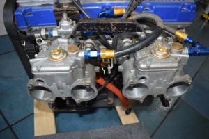 Cosworth YBM/YAC Weber carburetor intake assembly